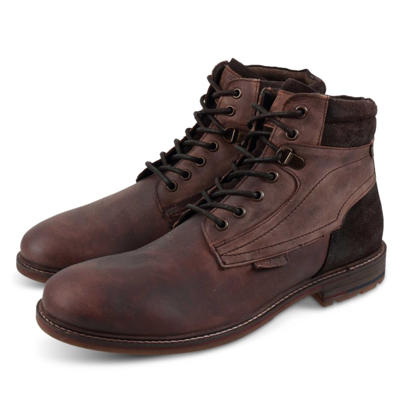 Carmela Leather Ankle Boots 67525 Καφέ