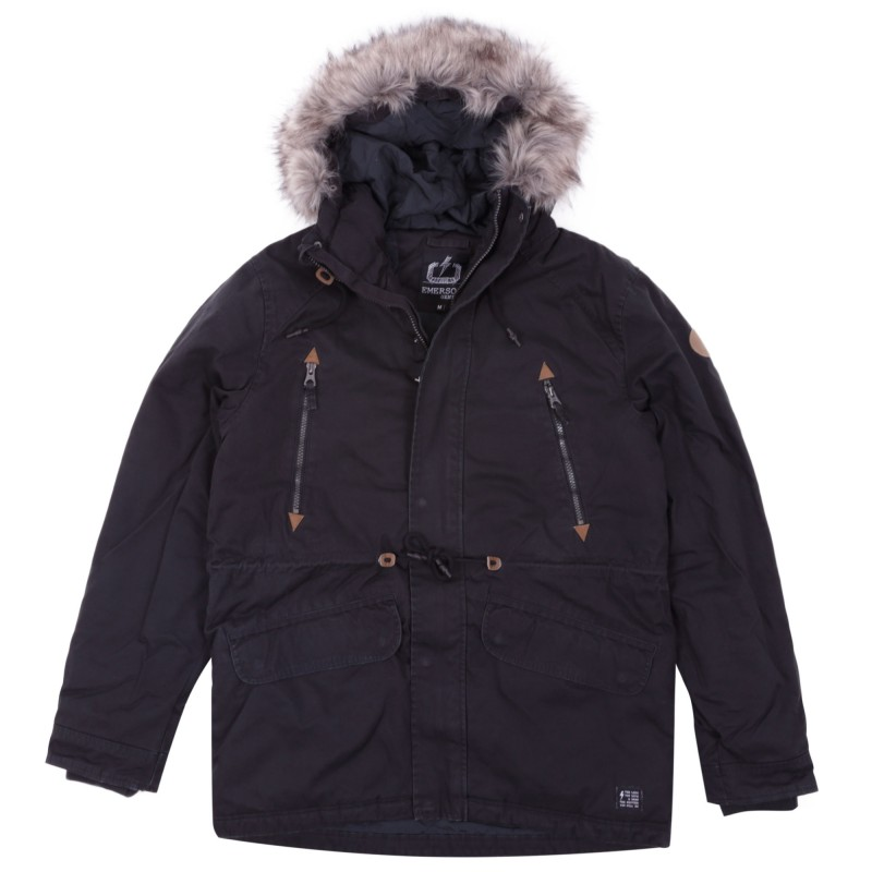MENS JACKET WITH DET/BLE FAKE FUR