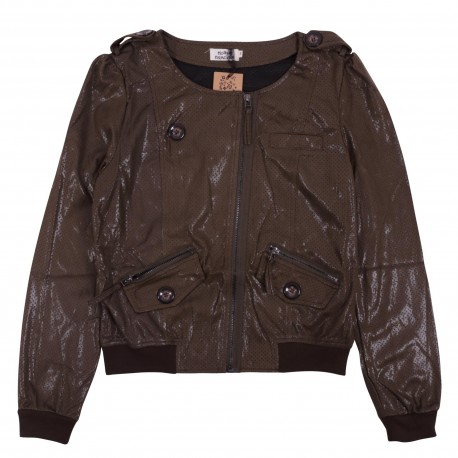 JACKET BOMBER METALLIZE STAR - Χακί