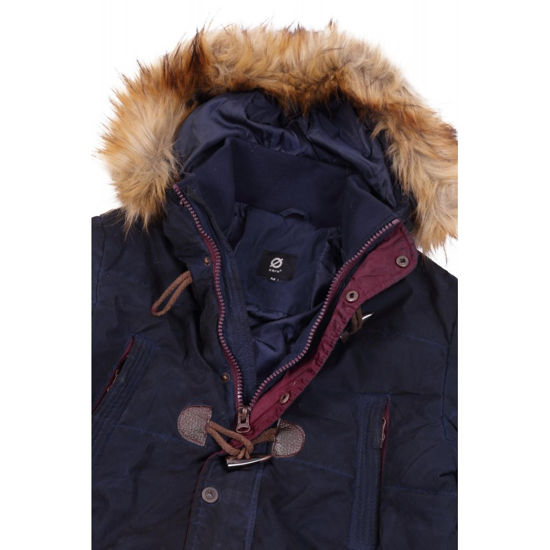 MENS JKT HOODED WITH FAKE FUR