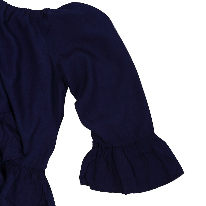 SECO DARK BLUE SHOULDER DNM TOP