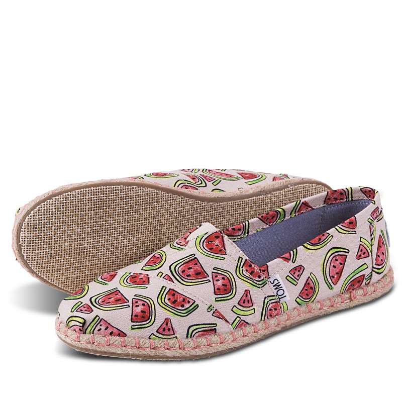 CLASSIC NATURAL/PINK WATERMELON ROPE SOLE