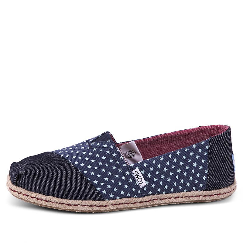 CLASSIC NAVY DENIM STARS ROPE SOLE