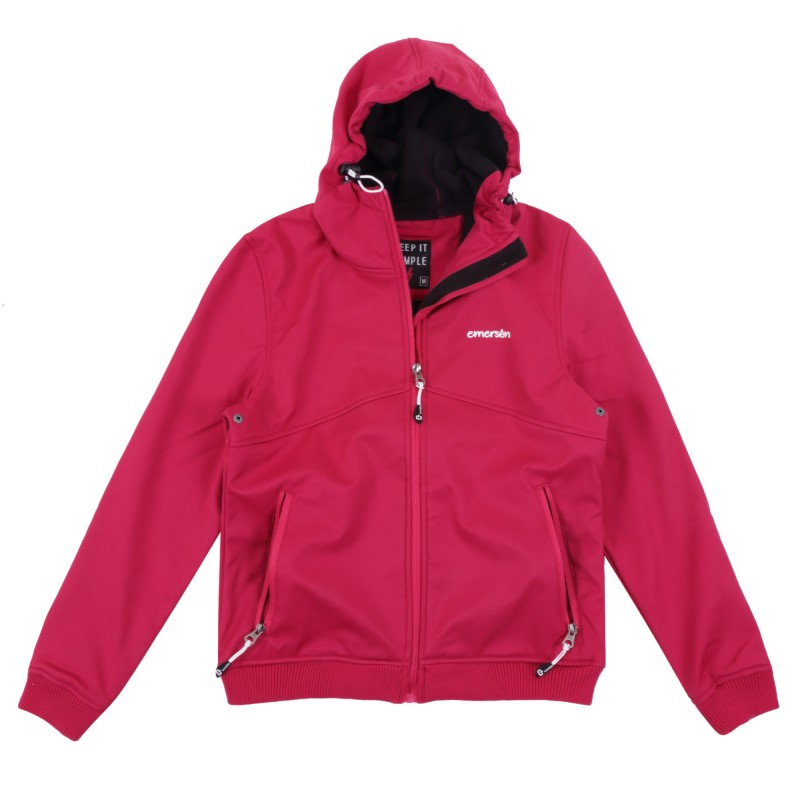 WOMEN SOFT SHELL JKT WITH RIB BOTTOM
