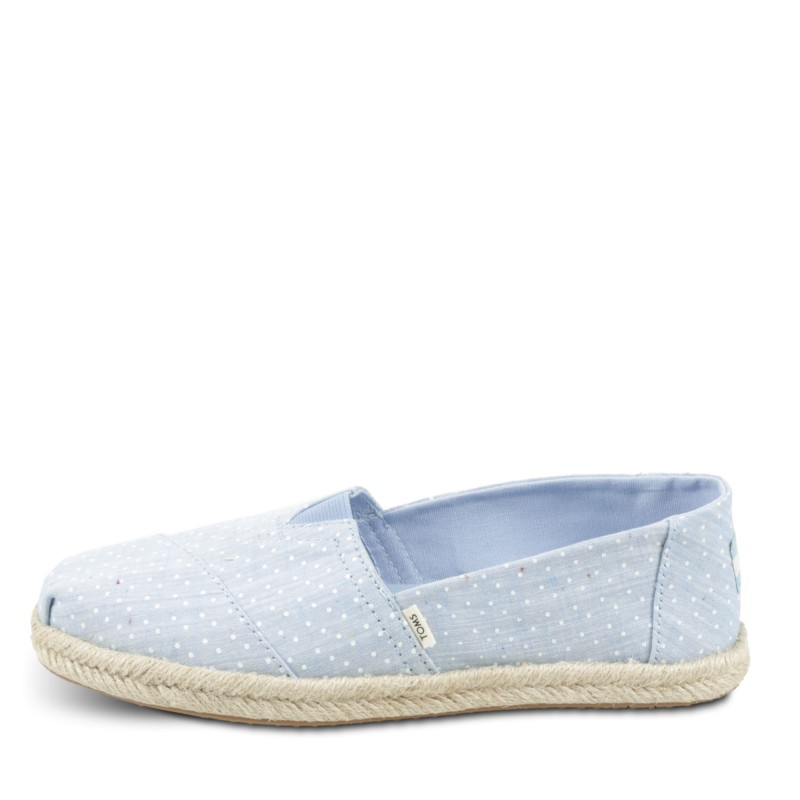 BLISS BLUE TINY CHAMBRAY DOTS ON ROPE
