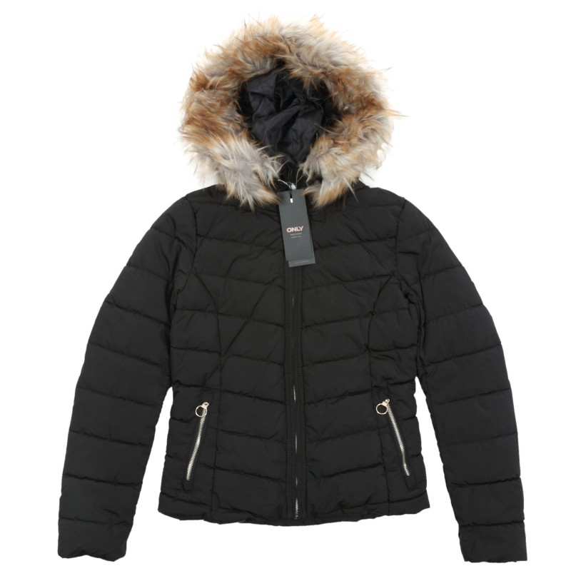 Only New Ellan Quilted Hood Jacket 101.15158943 Μαύρο