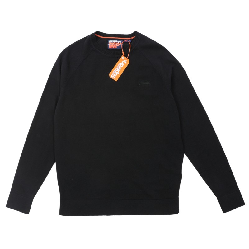 Superdry Orange Label Cotton Crew 014.SDM6100025A00000 Μαύρο