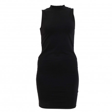 D3 HIGH NECK BODYCON DRESS
